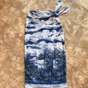 Wrap skirt beach cover up skirt.